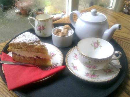 Afternoon Tea with Victoria Sponge Cake