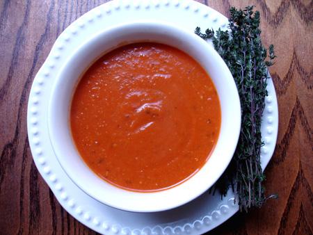 Tomato Lentil & Thyme Soup