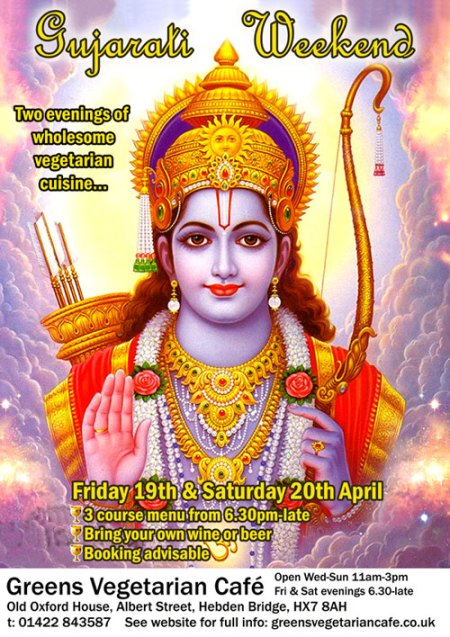 Gujarati Weekend at Greens Vegetarian Café Hebden Bridge
