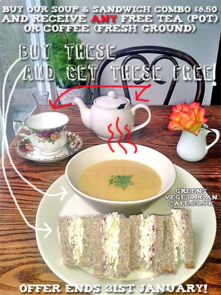 Soup & Sandwich Combo January Deal!