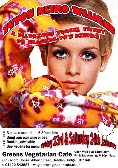 1970's Retro Weekend at Greens Vegetarian Café Hebden Bridge