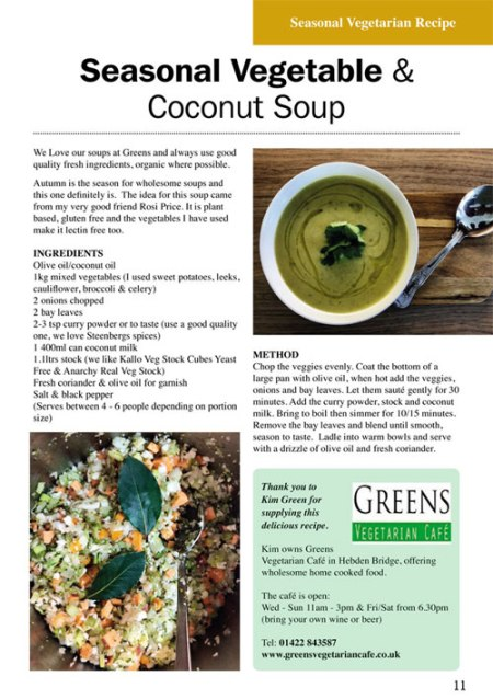 Greens Seasonal Vegetable & Coconut Soup
