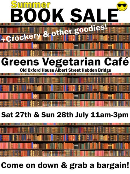 Greens Hebden Bridge Summer book sale